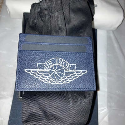 Dior X Jordan Cardholders Grey And Navy