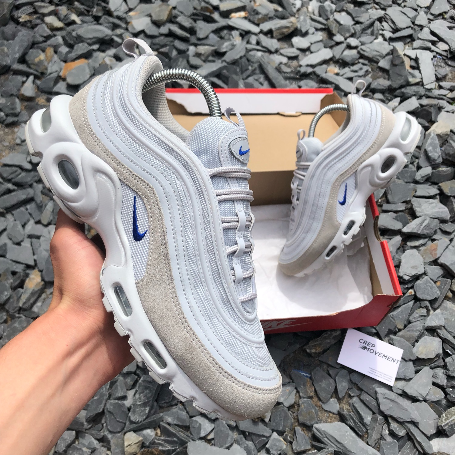 wholesale dealer ebe43 2c0f9 Nike Tuned 1 / Airmax 97 - Grey / Blue
