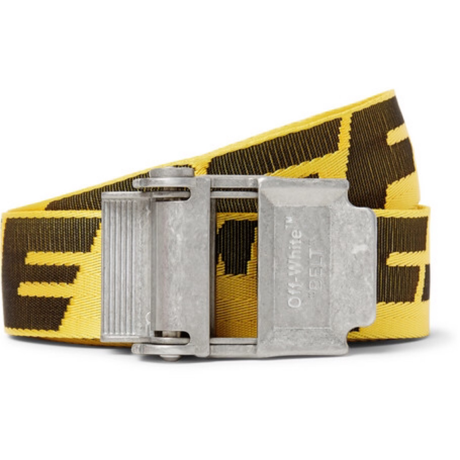 Off White Industrial Belt Yellow