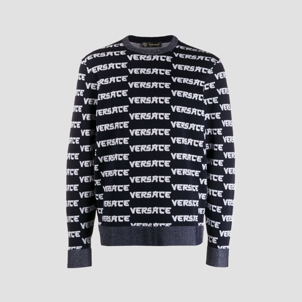 Versace Knit Spell Out Jumper