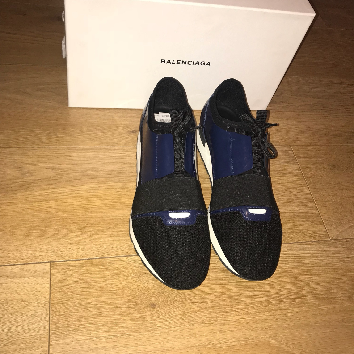 top quality multiple colors various colors Balenciaga Race Runner Black/Blue Uk 11