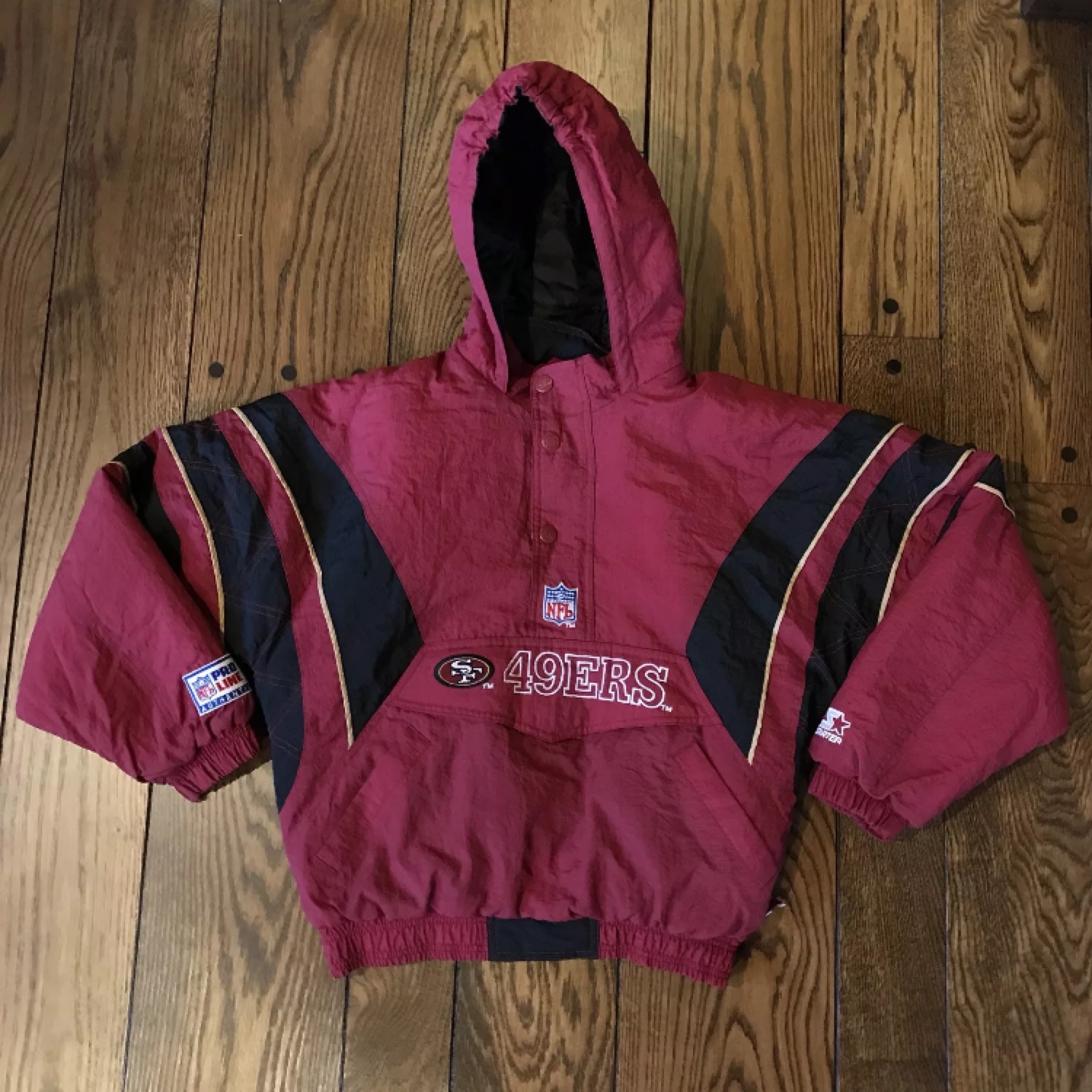 lowest price 2ff15 427db Kids 49Ers Starter Jacket Heavy Winter Coat