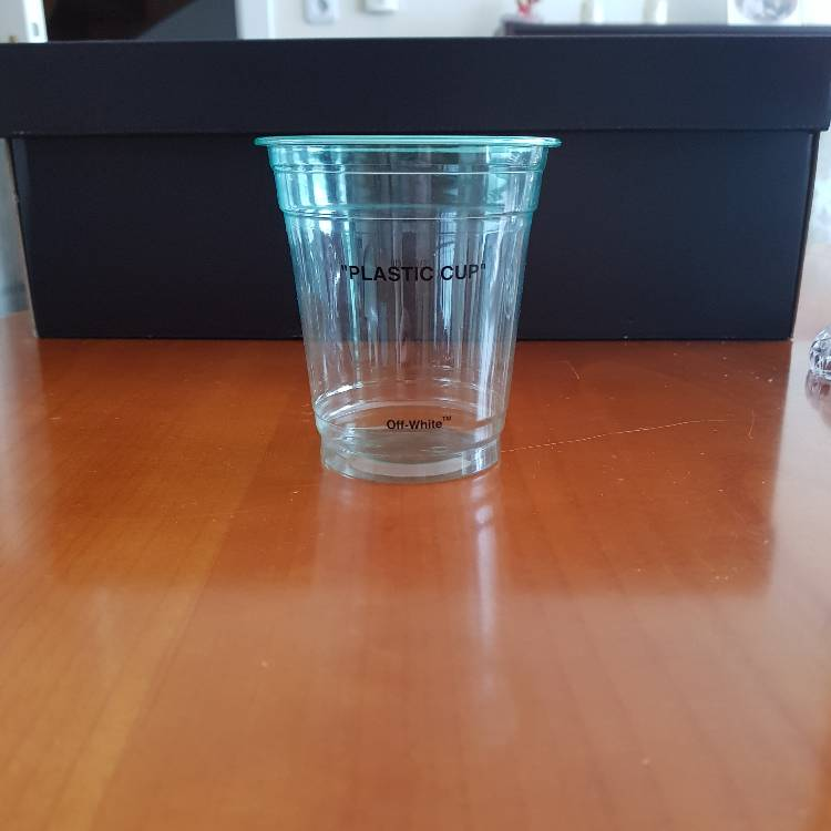 Off White Plastic Cup