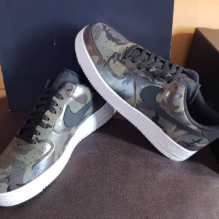 taille 40 9e34b 2c699 Nike Air Force '07 lv8 Green Camo Olive / Olive Money / Brun Baroque / Noir