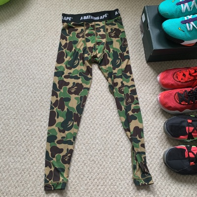 A Bathing Ape Camo Green Tights *Used Once*