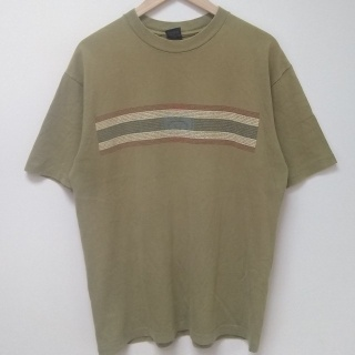 Vintage Rare 90's Stussy L Blue label T-shirt in nice olive green colour.