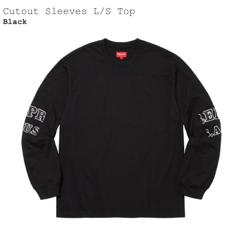 Supreme Cutout Sleeves L/S Top Black