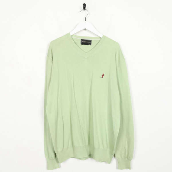 Vintage MARLBORO CLASSICS Small Logo Knitted Sweatshirt Jumper Green | XL