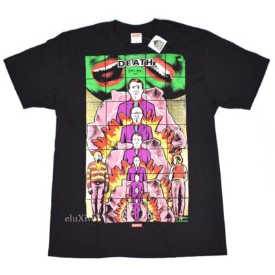 Supreme Gilbert & George 'Death' Black T-Shirt Ds