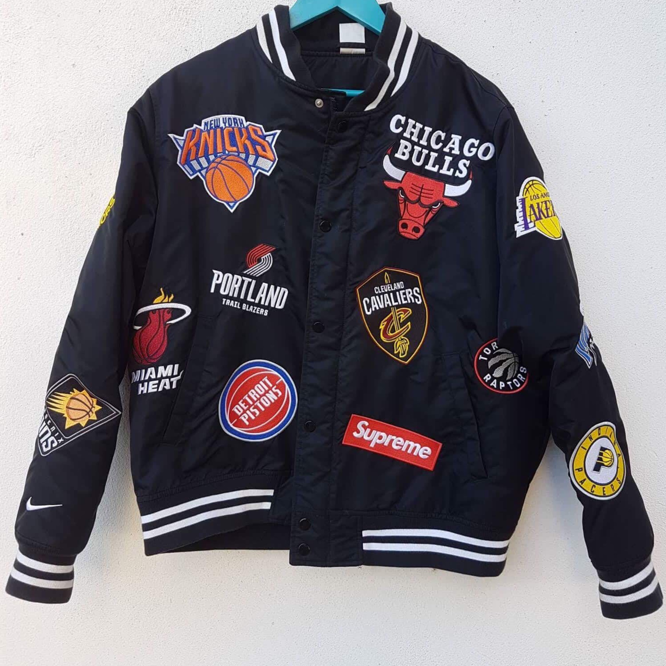 Supreme Nike Jacket X Nba Large Black wPZOlXikuT