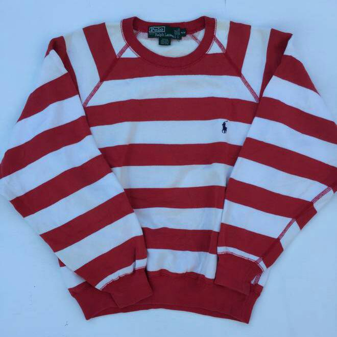 utsökt stil fler foton beställa online Vintage Polo Ralph Lauren Striped Red/White For Her