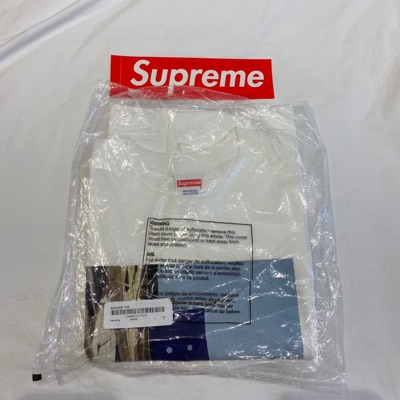 Supreme Banner Tee Fw19 Medium White