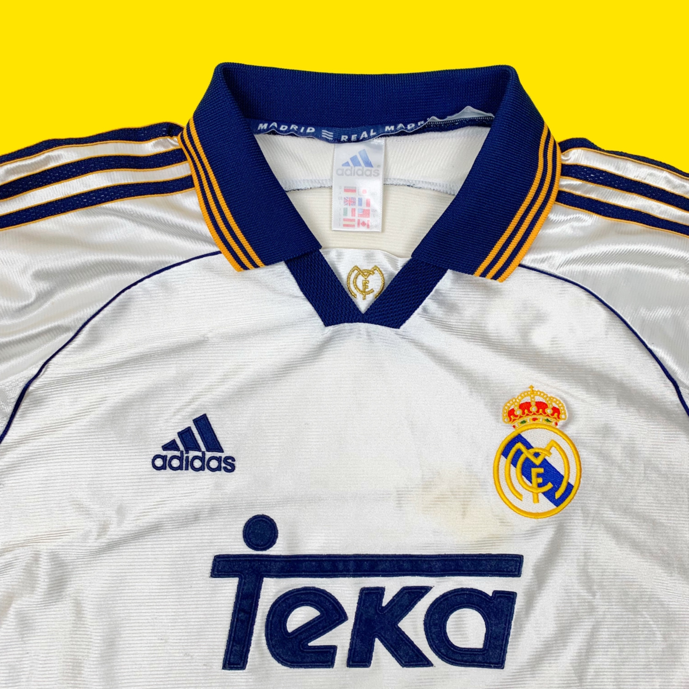 Vintage 90S Real Madrid F.C Home Jersey