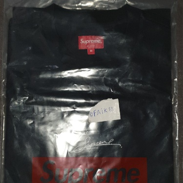 Supreme Signature S/S Top Black