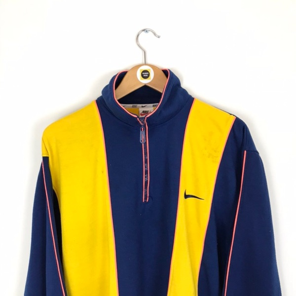 Vintage Nike Blue And Yellow 1/4 Zip Pullover