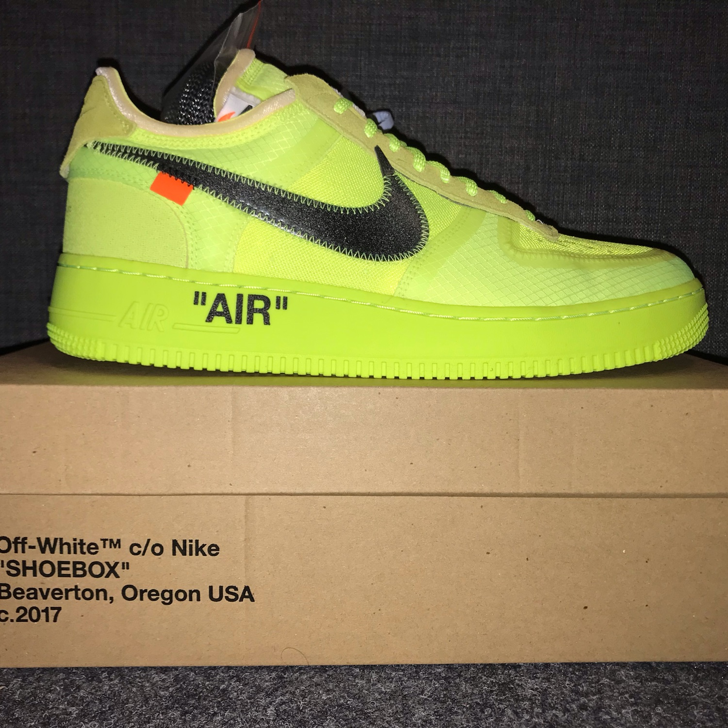 separation shoes cdeed b6f3c Off White X Nike Air Force 1 Volt Size 11 / 45