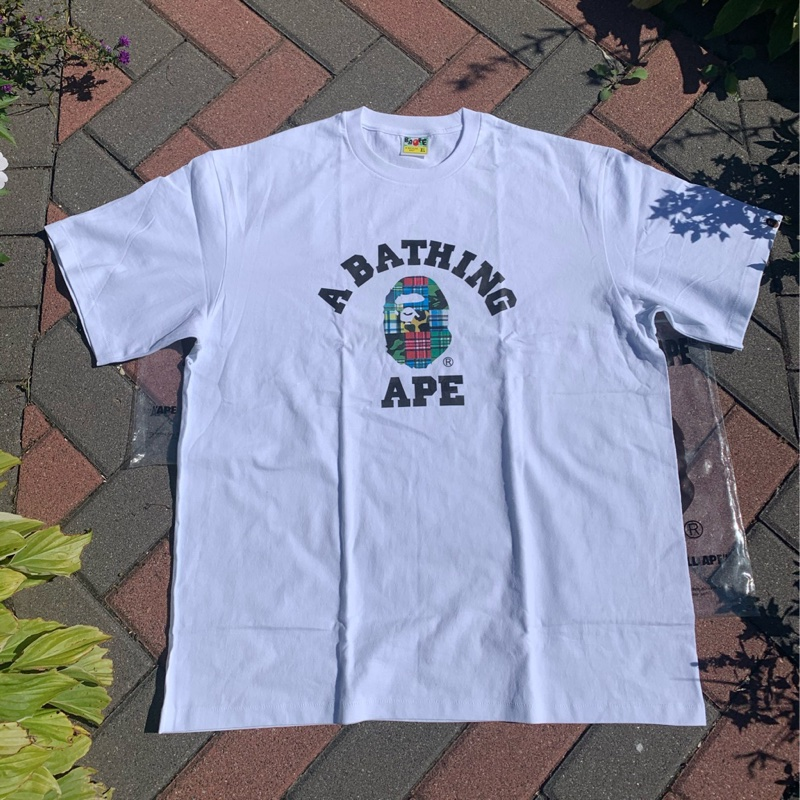 "BAPE College Tee ""Patchwork"" (White)"