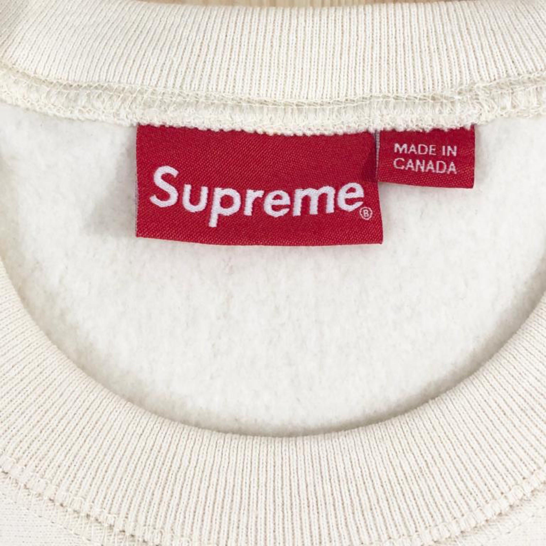 Supreme Box Logo Crewneck Natural