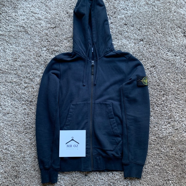 Stone Island Zip-Up Hoodie Navy Size Small