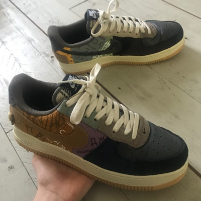 Nike Air Force 1 Travis Scott Cactus Jack Eu43