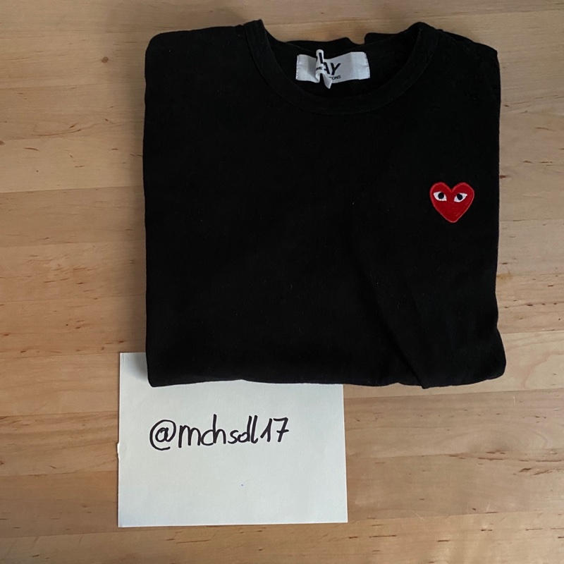 Comme Des Garcons Play Tee Black