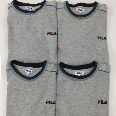 Fila Lot Of 4 Heather Grey Sweatshirt Top