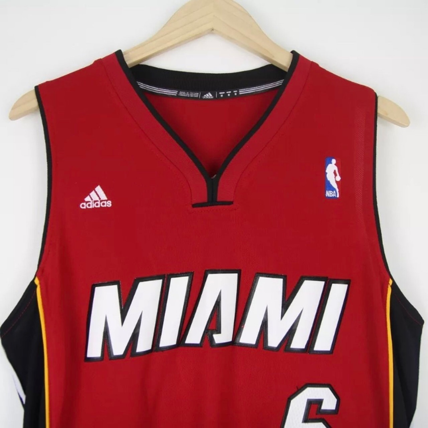 competitive price 5f48d 2d9ca Vintage Adidas Miami Heat Lebron James Nba Jersey