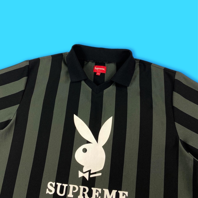 Supreme x Playboy Jersey Black / Grey
