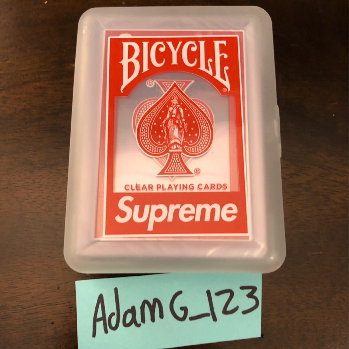 Supreme Bicycle Clear Paying Cards