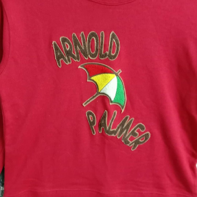 Vintage Arnold Palmer Big Logo Spellout Embroidery Sweatshirt
