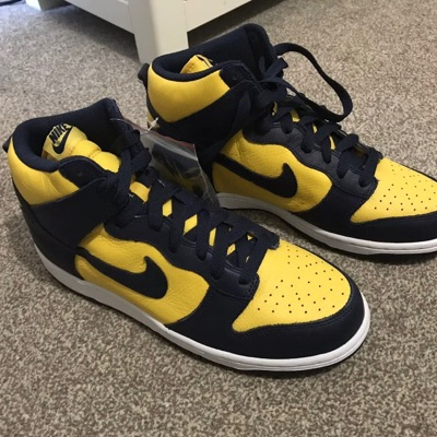 Nike Dunk High Top Retro Michigan Be True To Your