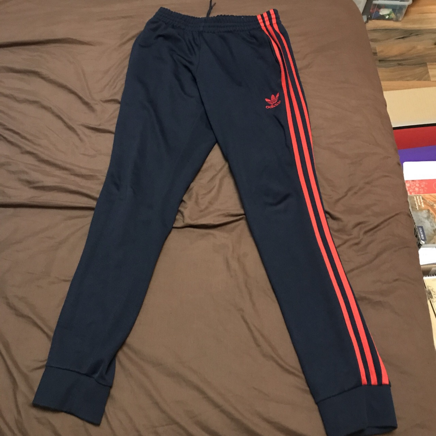 c6d26d4aecc Adidas Originals Sst Navy And Red Track Pant