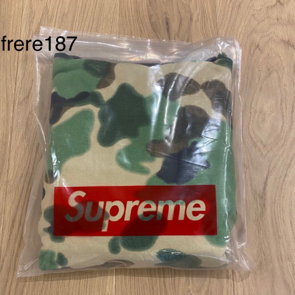 Supreme Overdyed Hooded Sweatshirt Painted Camo