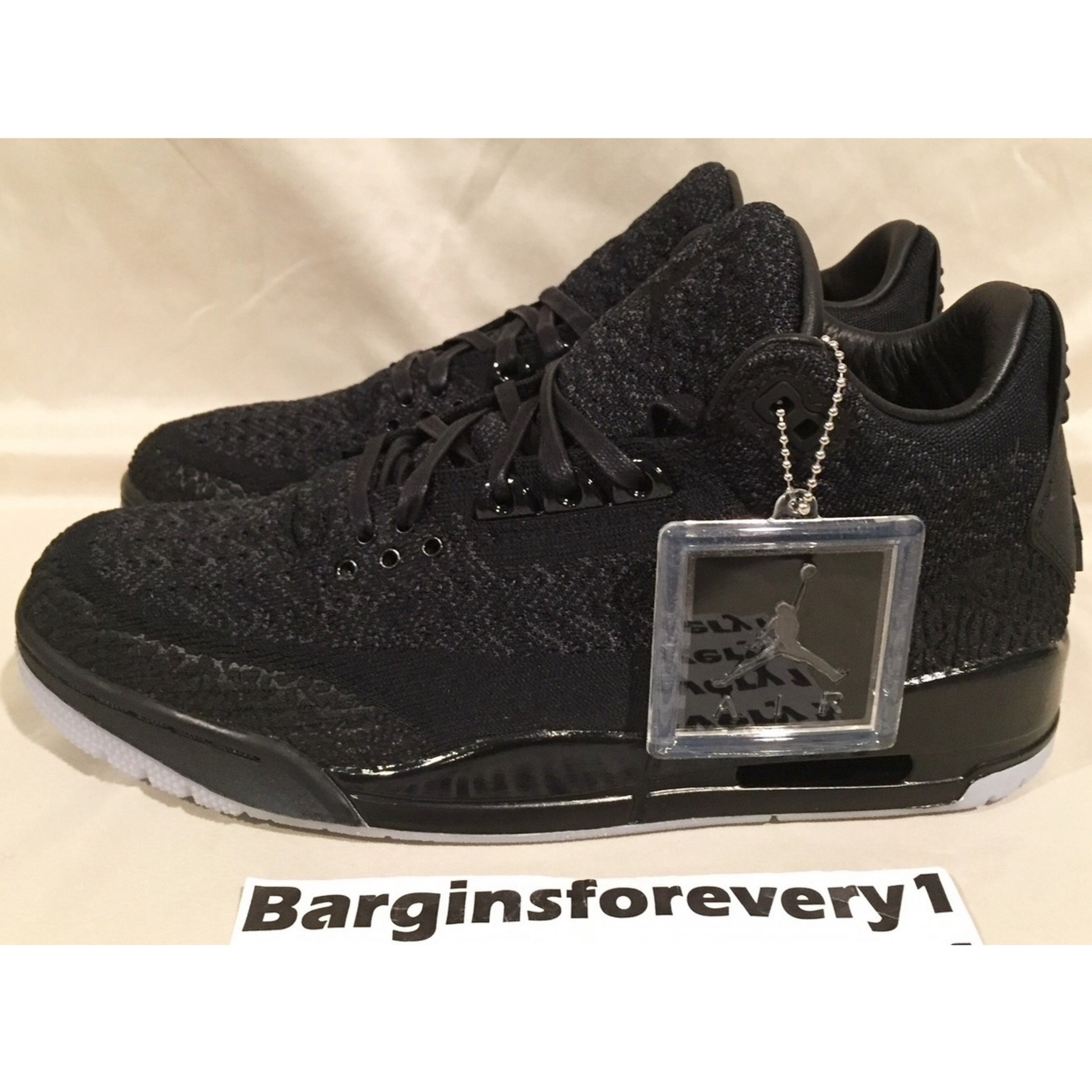 2b09e9c16f713 Air Jordan 3 Retro Flyknit Black Black-Anthracite