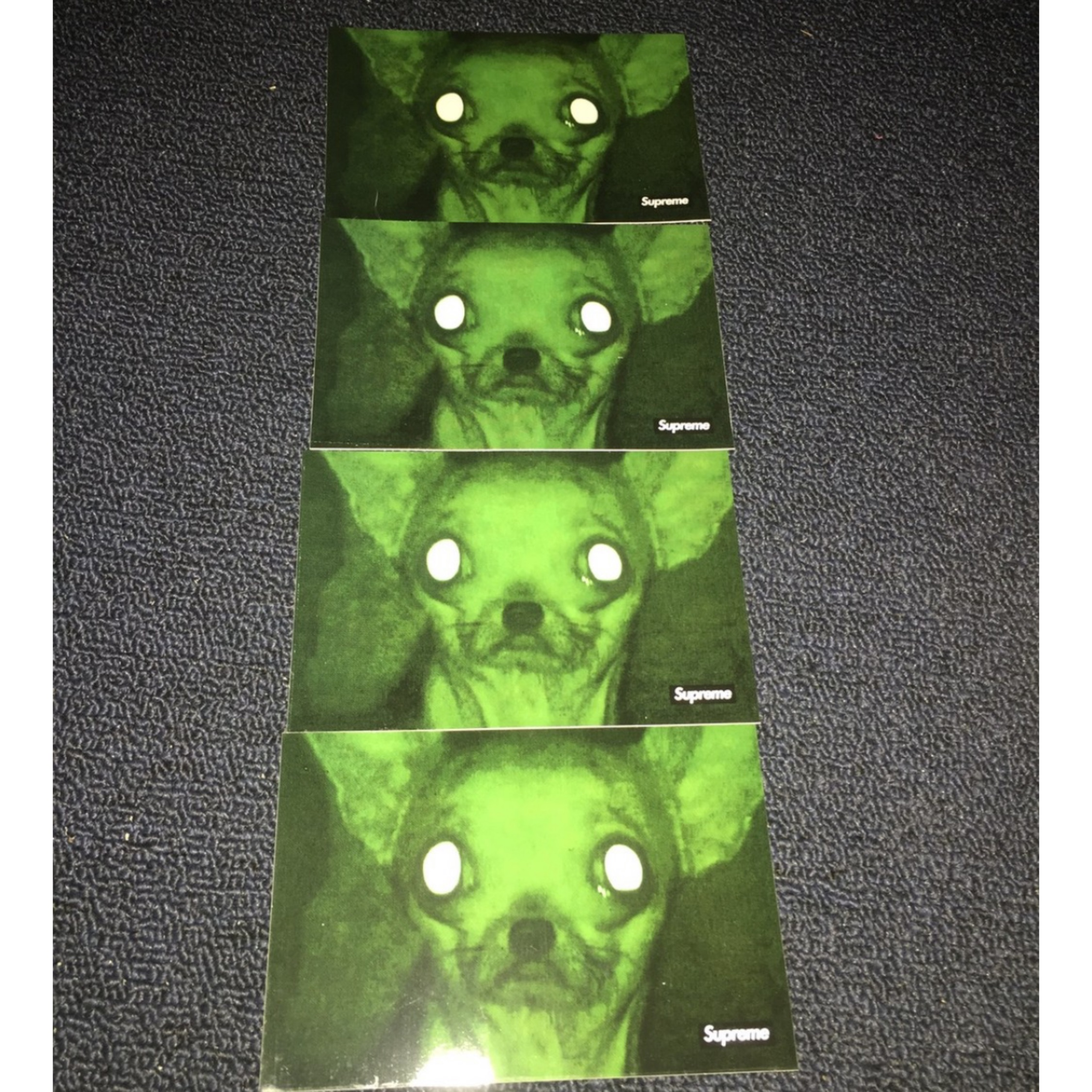 4 Supreme Chris Cunningham Chihuahua Stickers