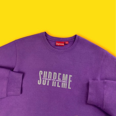 Supreme World Famous Crewneck Violet