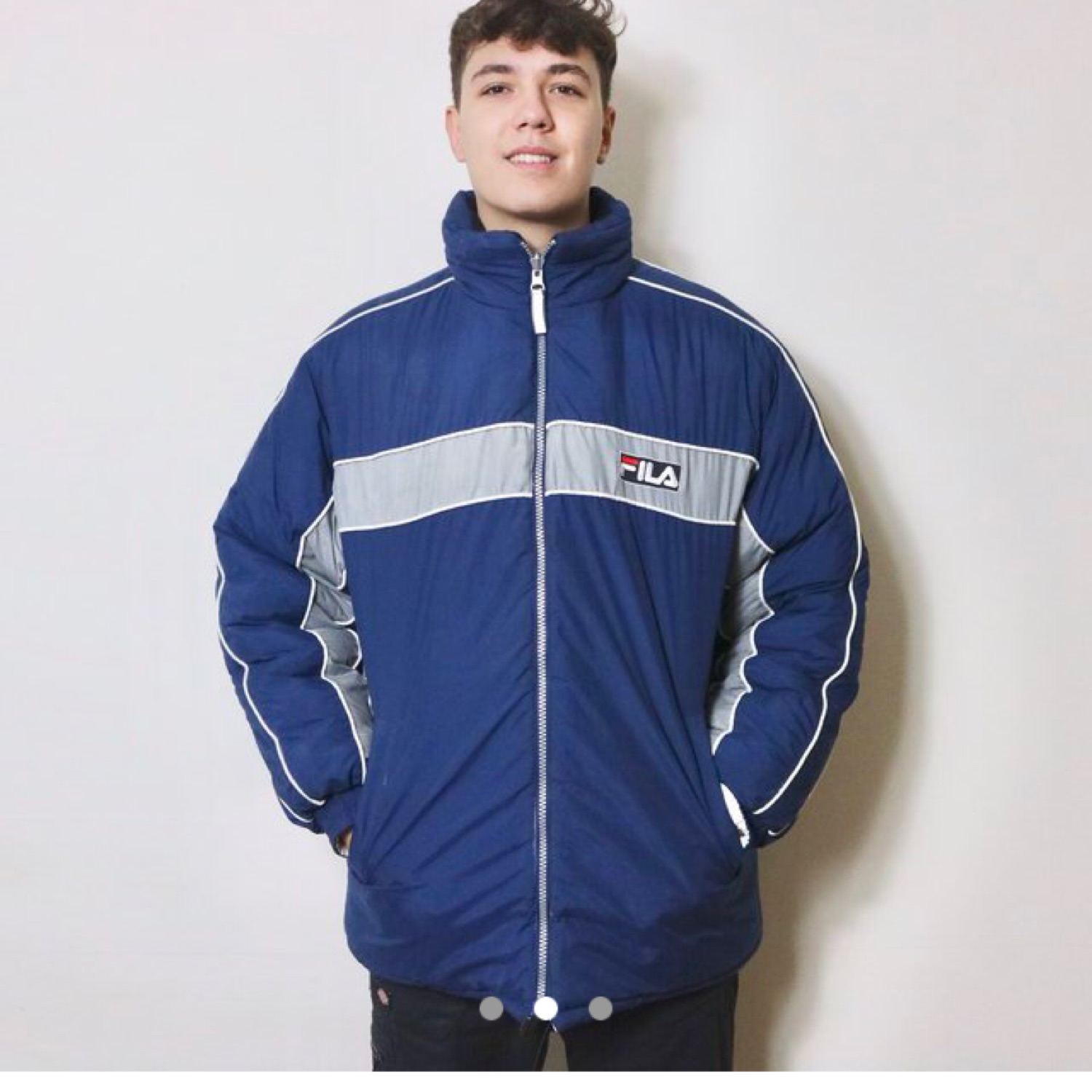 get online brand new exquisite style Vintage Fila Puffer Jacket