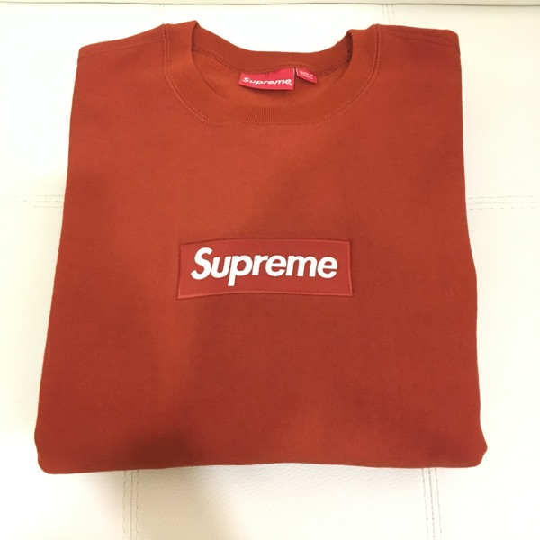 Supreme Box Logo Crewneck Rust Fw18