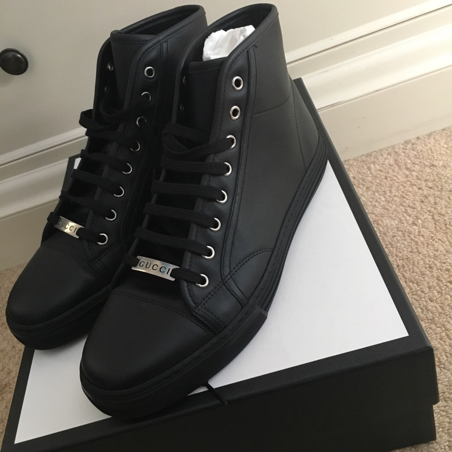 gucci high top shoes