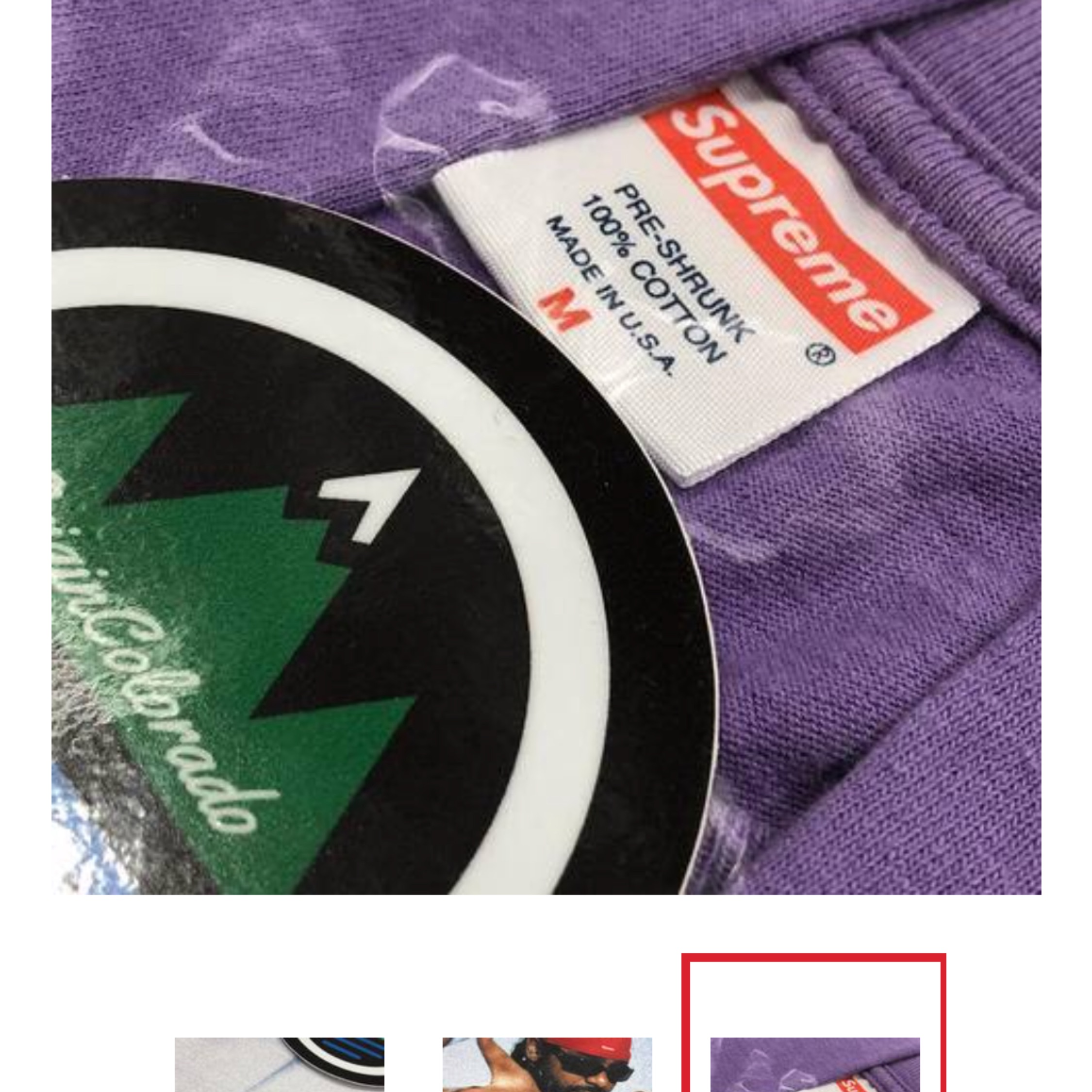 Supreme Dipset Photo T Shirt Lavender 2006
