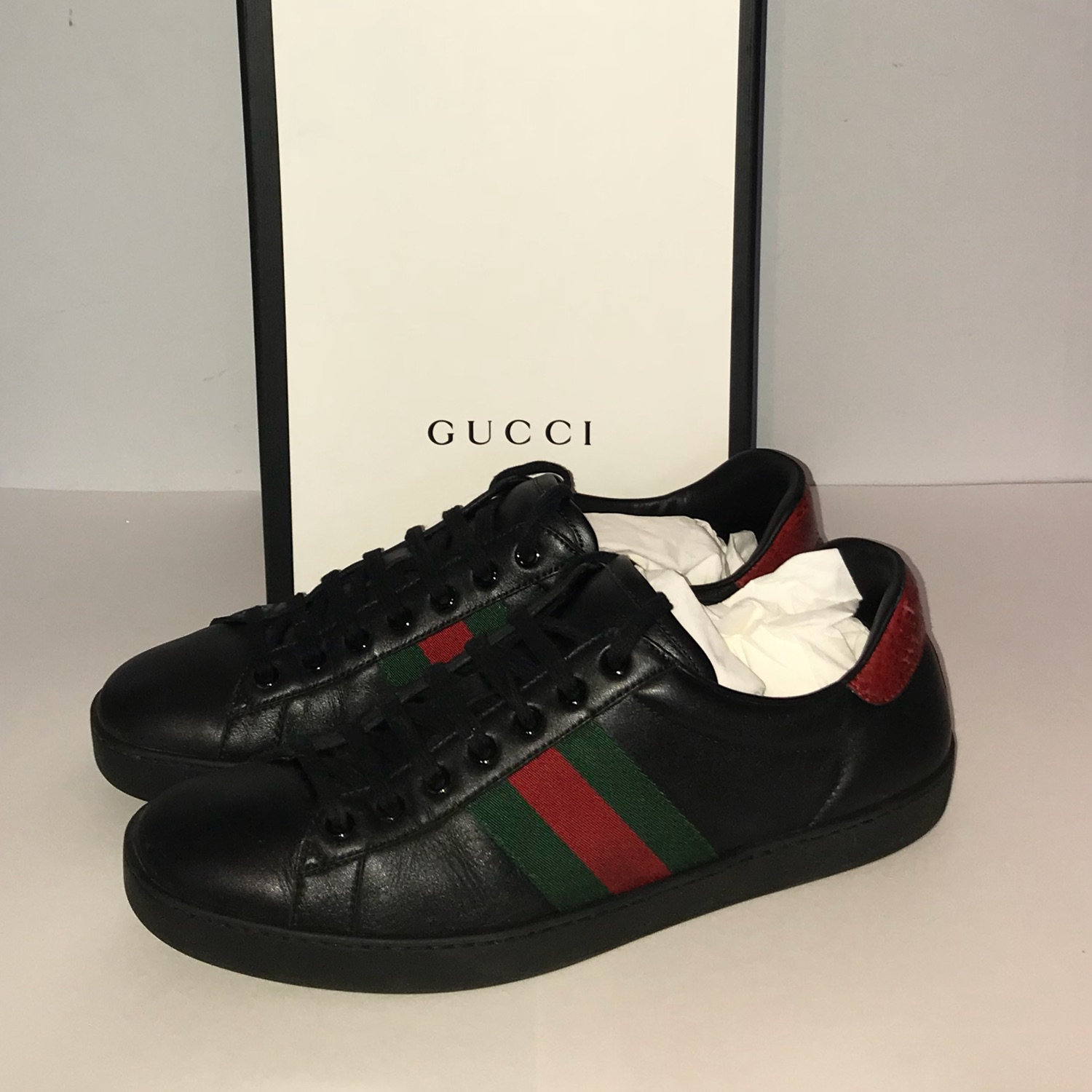 Aceweb gucci ace web shoes sn72 black
