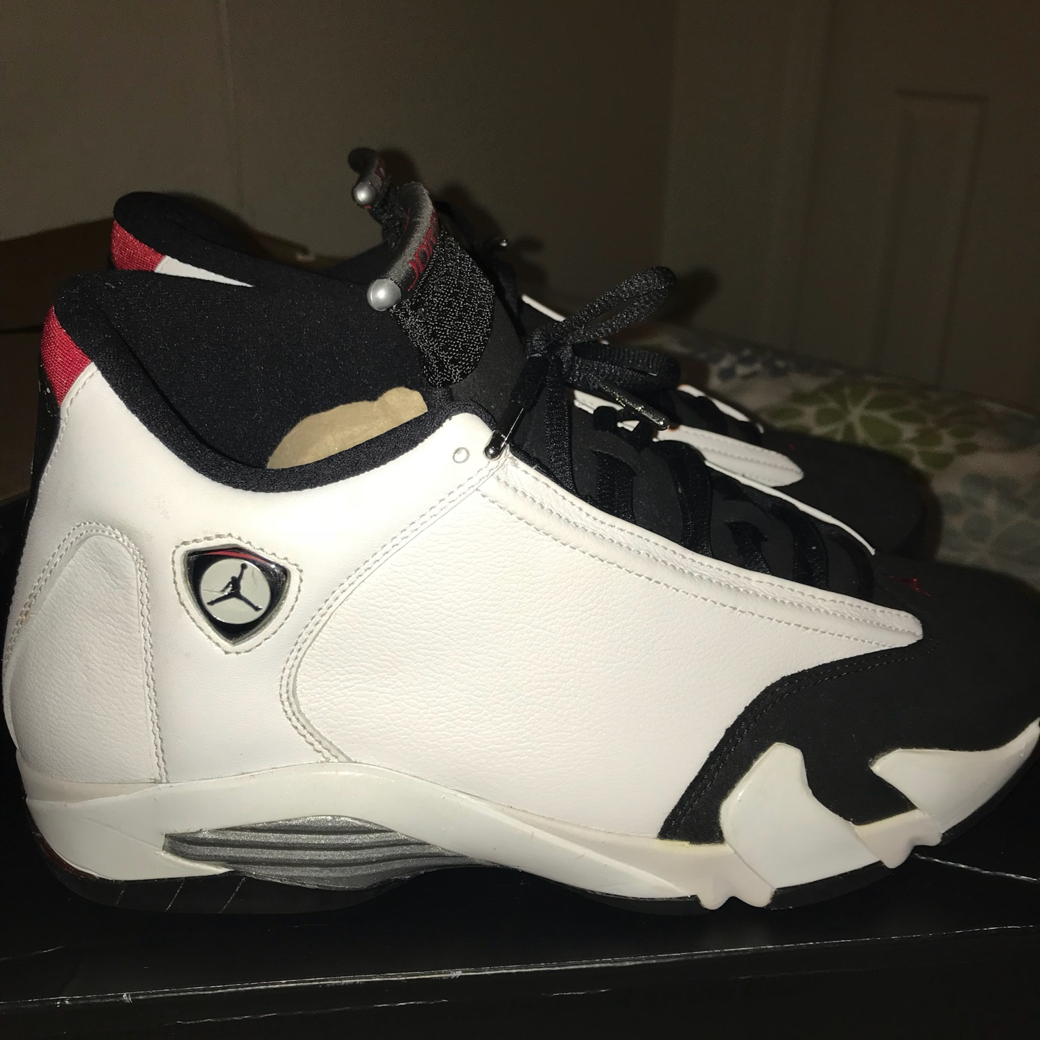 new style 64d2f fccd9 Air Jordan 14 Black Toe