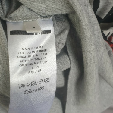 McQ by Alexander McQueen Mens Grey Size Large T Shirt RRP £175