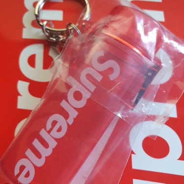 Supreme Waterproof Lighter Case Keychain Clear