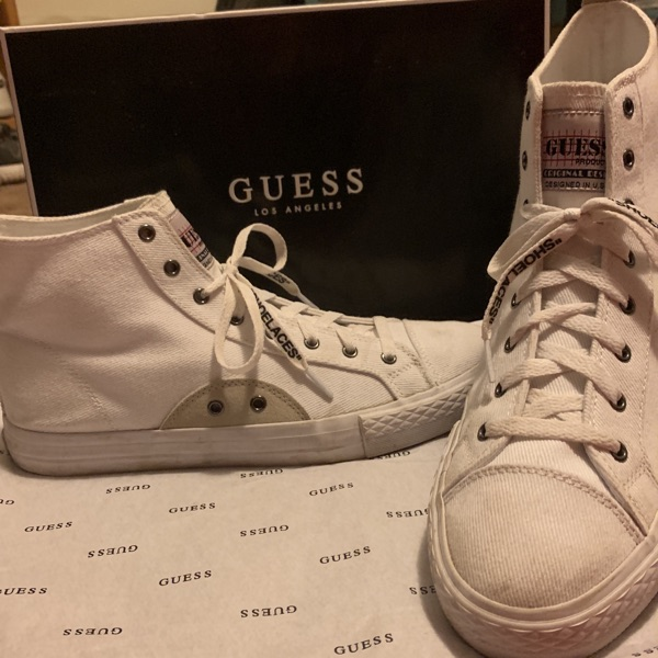 Custom Off-White/Guess High Tops