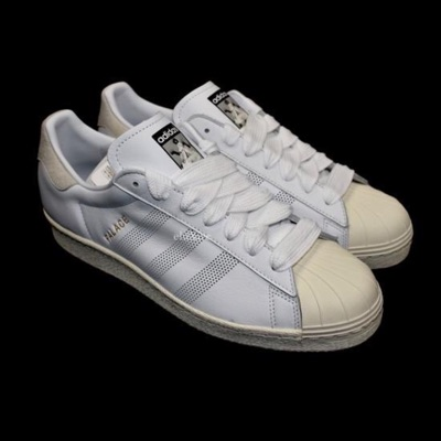 Adidas X Palace Superstar Leather Sneakers White