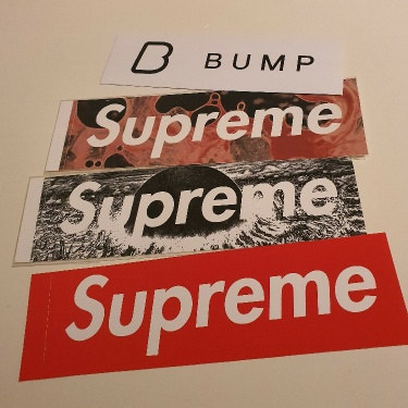 PRIVATE LISTING 3x Supreme box logo stickers