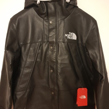 Supreme x The North Face Leather Parca Black Size Medium