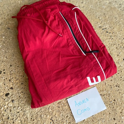Palace Pipe Down G Suit Bottoms Red/White
