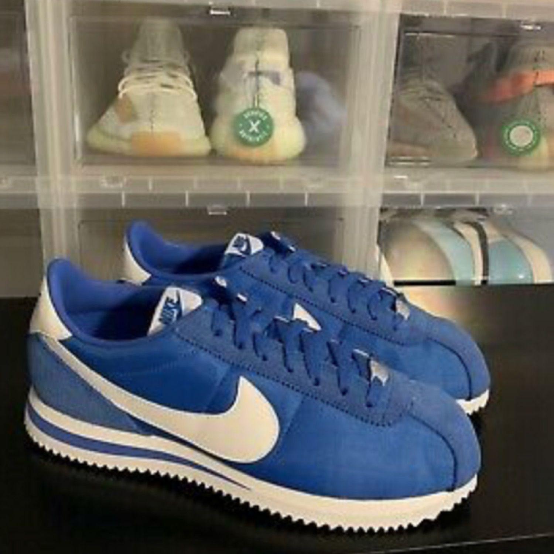 Aplicable Etapa computadora  Nike Classic Cortez Blue And White Size Us 8